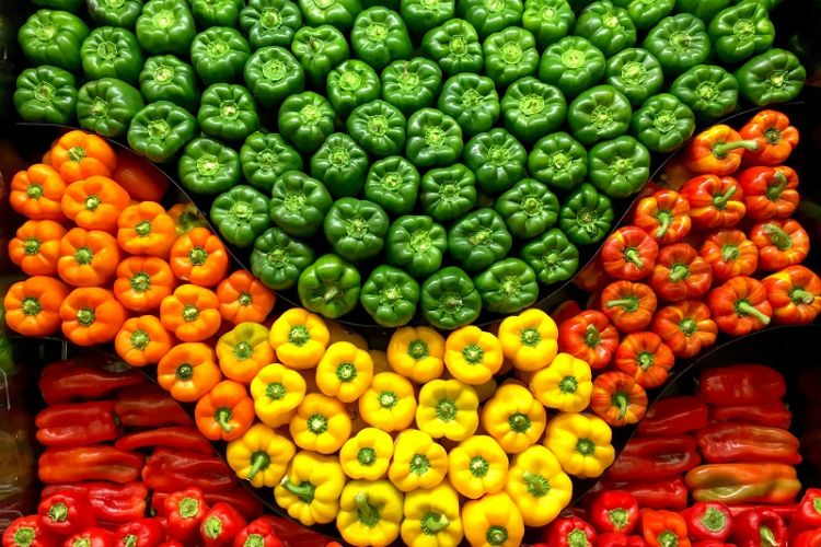Up the pep with colorful pepper displays now
